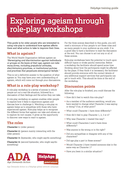 exploringageismthroughroleplayworkshops