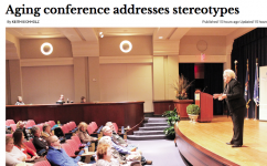 the Grand Valley Lanthorn covers the 10th Annual Art & Science of Aging Conference
