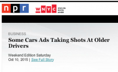 Some Car Ads Taking Shots at Older Drivers