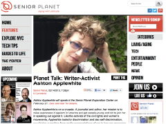 """Writer-Activist Ashton Applewhite"" – interview with Senior Planet"